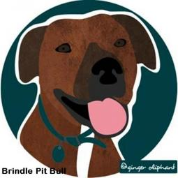 Brindle Pit Bull Mouse Pad